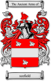 Scofield Coat Of Arms Scofield Family Crest